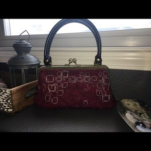 Vintage wool hand bag purse